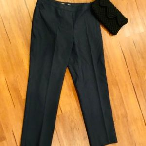 LAFAYETTE 148 NY Bleeker Navy Side Zip Pants